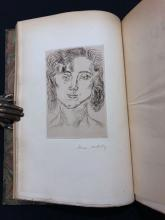 Cinquante Dessins par Henri Matisse, 1920. Book with dedication and signed etching by Matisse.