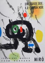 Miro Joan. Derriere le Miroir 123, 1961, with two lithographs in