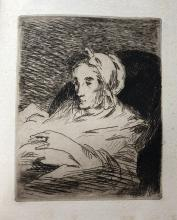 Manet by Bazire, book with two etchings. 1884