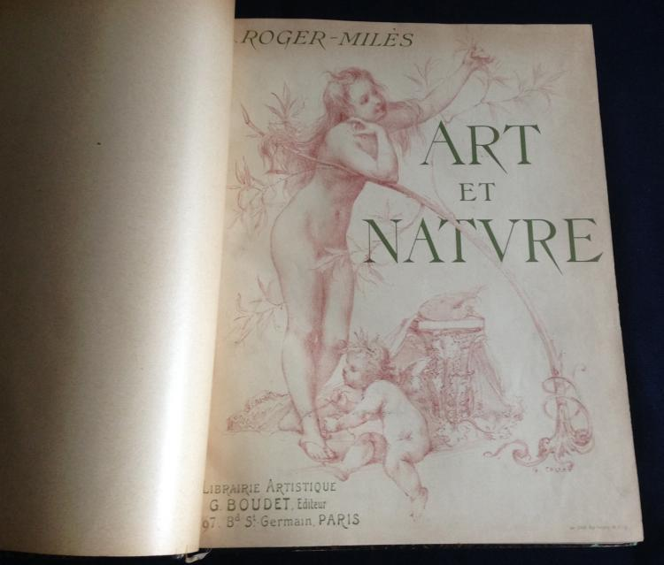 Art et Nature, 1897, with 35 original etchings (Pissarro, Renoir, Sisley and others).
