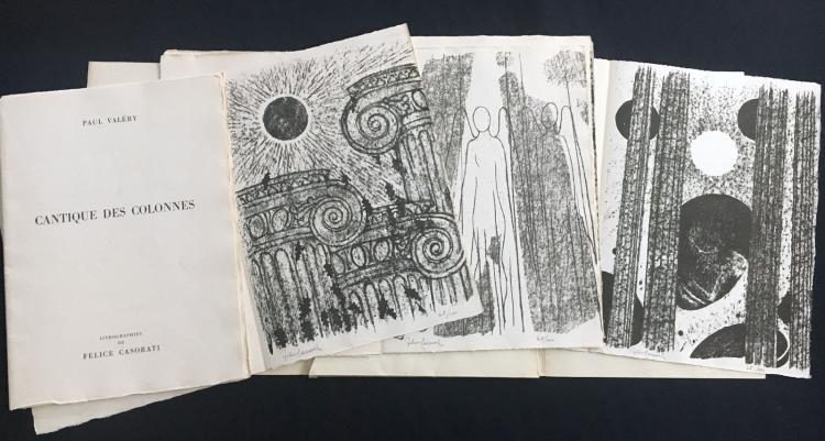 Cantique des colonnes, 1949. With 6 signed lithographs by Felice Casorati