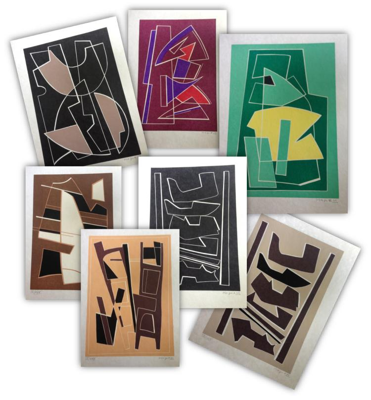 Magnelli Alberto La Magnanerie de Ferrage, 1971, portfolio with 12 linocuts (signed).
