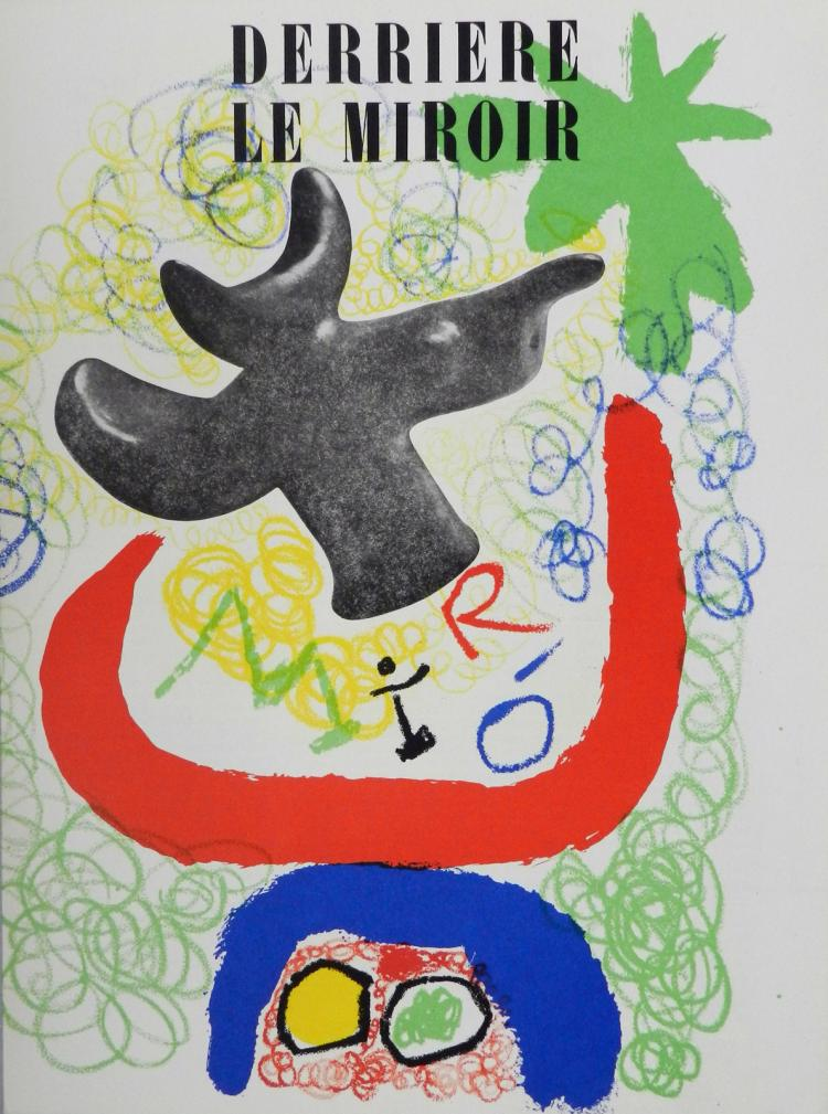 Derriere le miroir 29 30 2 original lithographs by miro for Miroir original