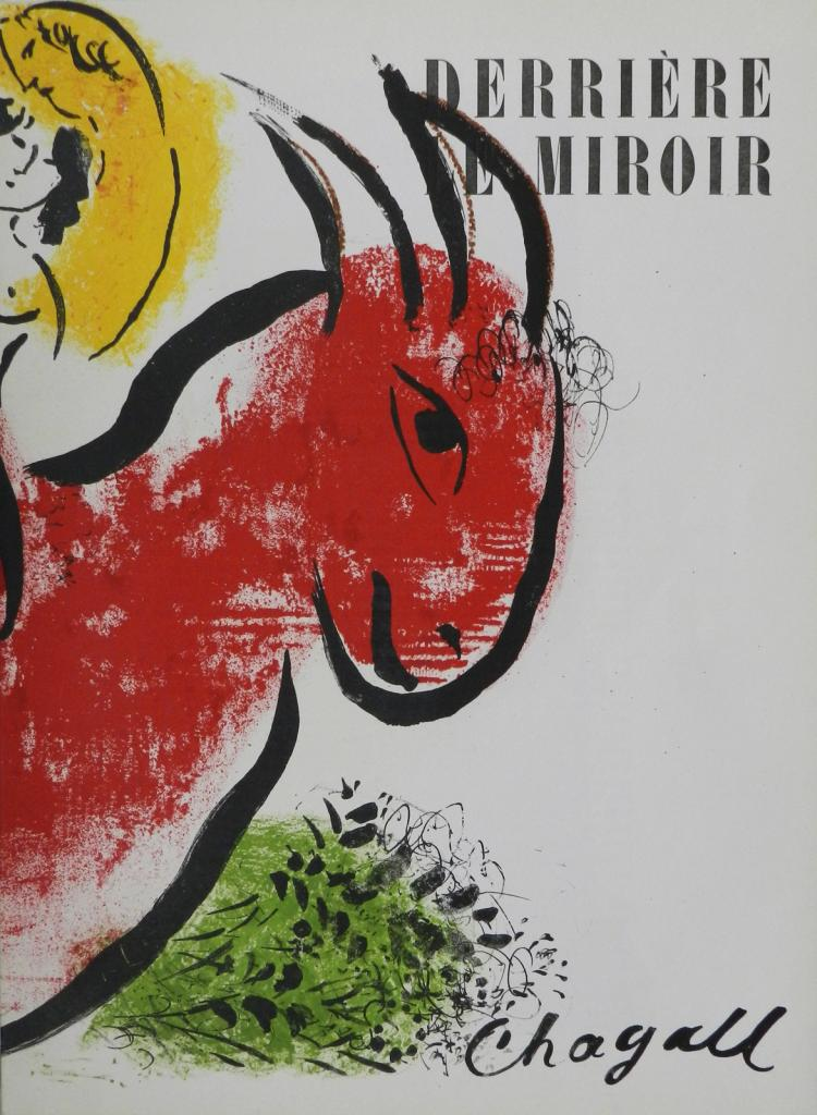 Derriere le miroir 44 45 2 original lithographs by chagall for Miroir original