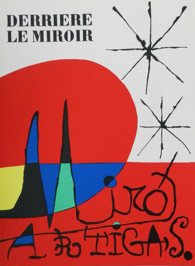 Derriere le miroir 87 88 89 3 original lithographs by miro for Miroir original