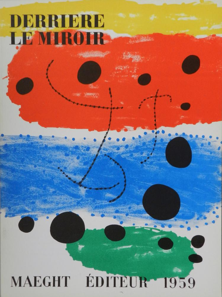 Derriere le miroir 117 one original lithograph by miro for Miroir original