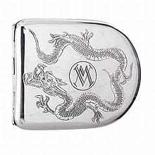 Cigarette case in Chinese silver