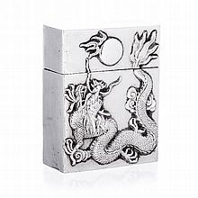 Box 'dragon' in Chinese silver