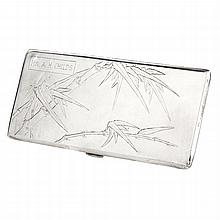 Chinese silver cigarette case