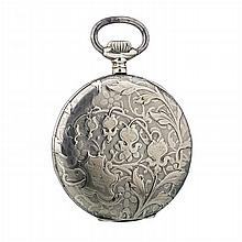 ANCRE- Art Nouveau pocket watch in silver