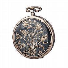 SILVANA - Pocket watch in Art Nouveau silver.