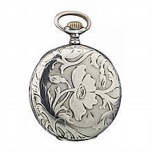 CLC - Art Nouveau pocket watch in silver