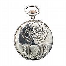 UNION HORLOGERE - Art Nouveau pocket watch in silver
