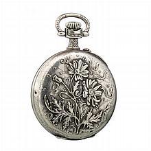 TRIB - Art Nouveau pocket watch in silver