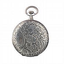 OSIRIS - German pocket watch in Art Nouveau silver.