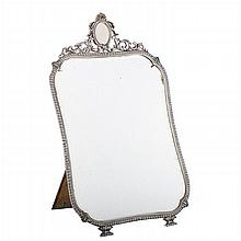 Silver mirror with frame with gadroons