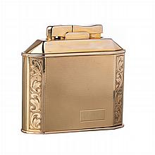 Gold table lighter