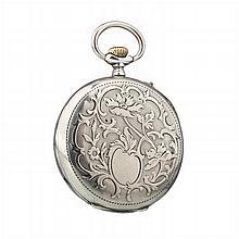 MARIALVAS - Art Nouveau pocket watch in silver