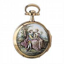 Gold lady's pocket watch