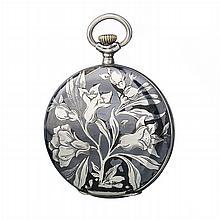 ALPINE - Pocket watch in Art Nouveau silver