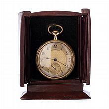 VULCAIN - Gold pocket watch