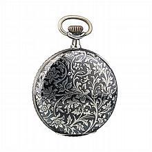 RECTA - Art Nouveau German pocket watch in silver