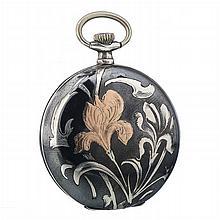 BOMA - Art Nouveau pocket watch in silver