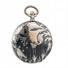 THE CONGRESS W. - Pocket watch in Art Nouveau silver
