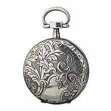 Art Nouveau pocket watch in silver