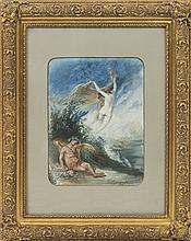ENRIQUE CASANOVA (1850-1913) - Bacchus and nymphs