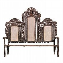 Anglo-Indian carved sissoo settee
