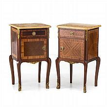 Pair of bedside tables, Louis XVI