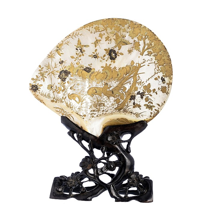 Chinese mother of pearl shell with lacquer