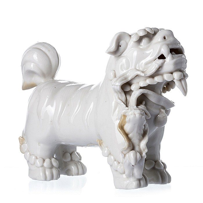 Foo dog, blanc de chine
