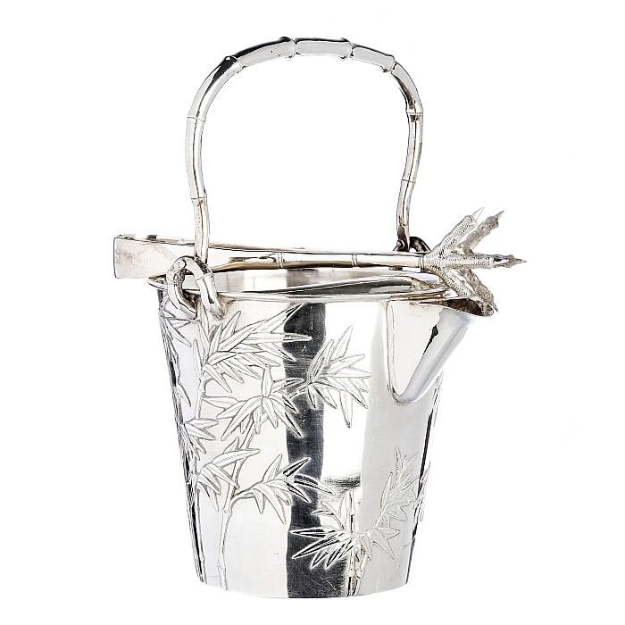 WANG HING - Ice bucket and tongs