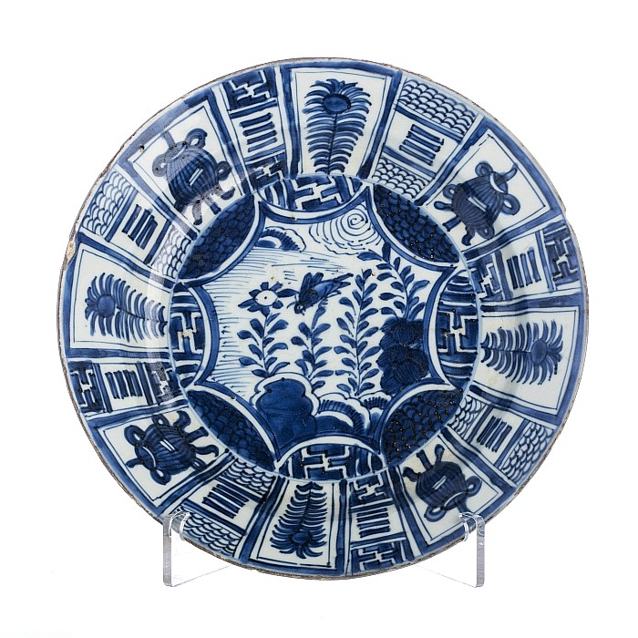 'Kraak' plate in Chinese porcelain, Wanli