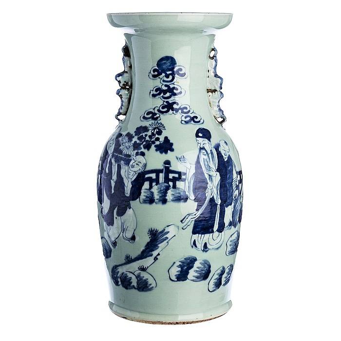 Large vase with 'deities' in Chinese porcelain, Tongzhi