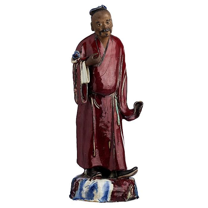 Male figure in 'Shiwan' ceramics, Minguo