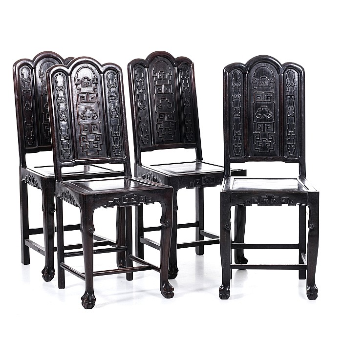 Eight Chinese armchairs in Hongmu, Minguo