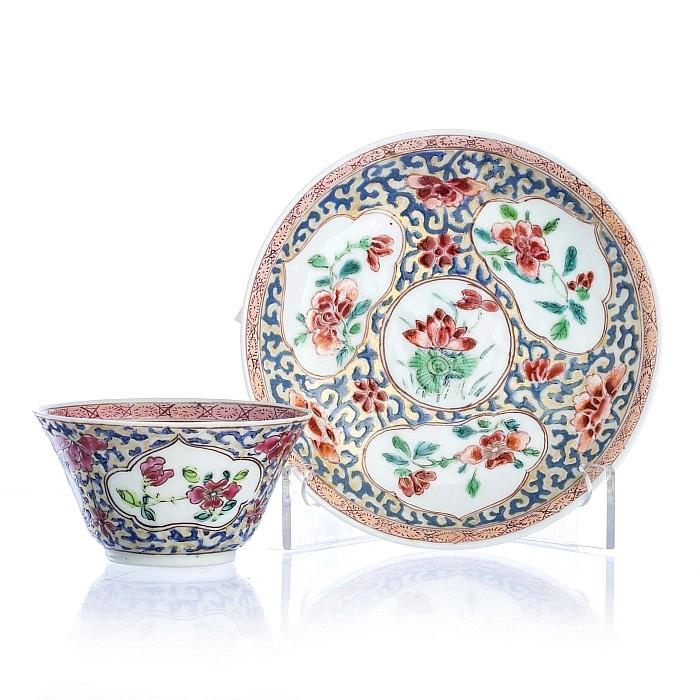 Chinese porcelain lotus saucer bowl, Yongzheng