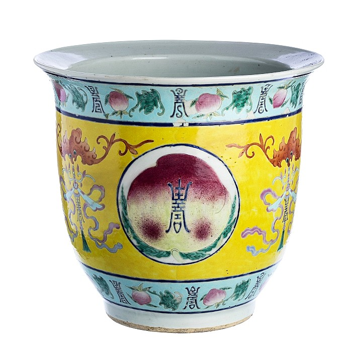Chinese porcelain 'peaches' vase, Tongzhi