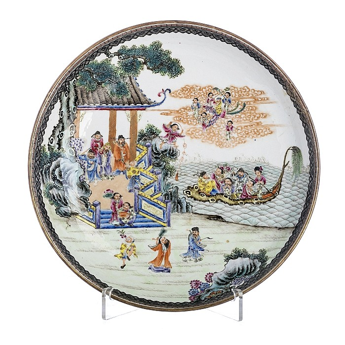 Chinese Porcelain 'Immortals' charger, Republic