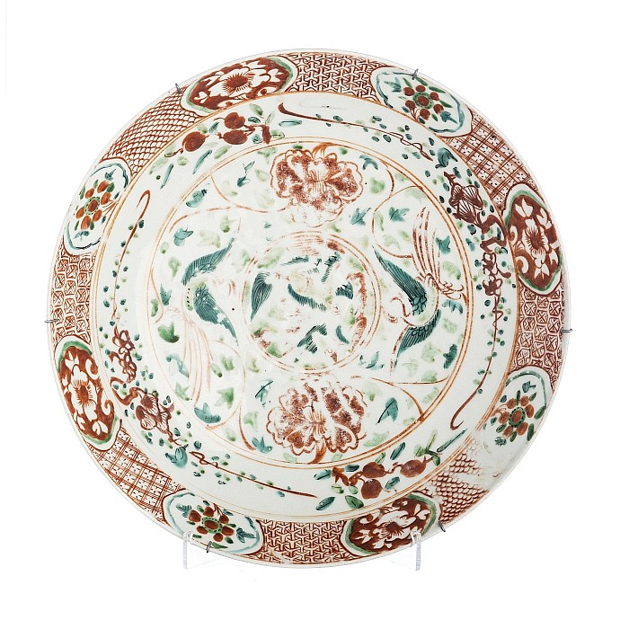 Plate in Chinese Swatow porcelain, Wanli