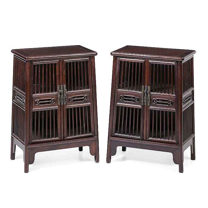 Pair Chinese small cabinets