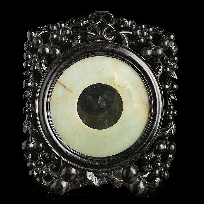 Frame with Chinese jade disk