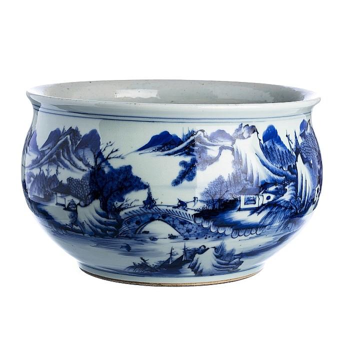 Landscape Vase in Chinese porcelain, Guangxu