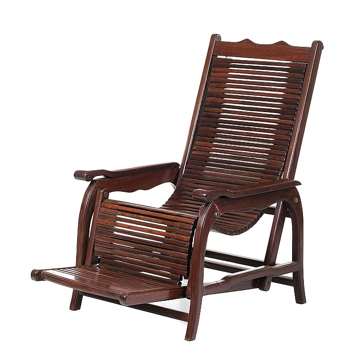 Large Chinese reclining chair