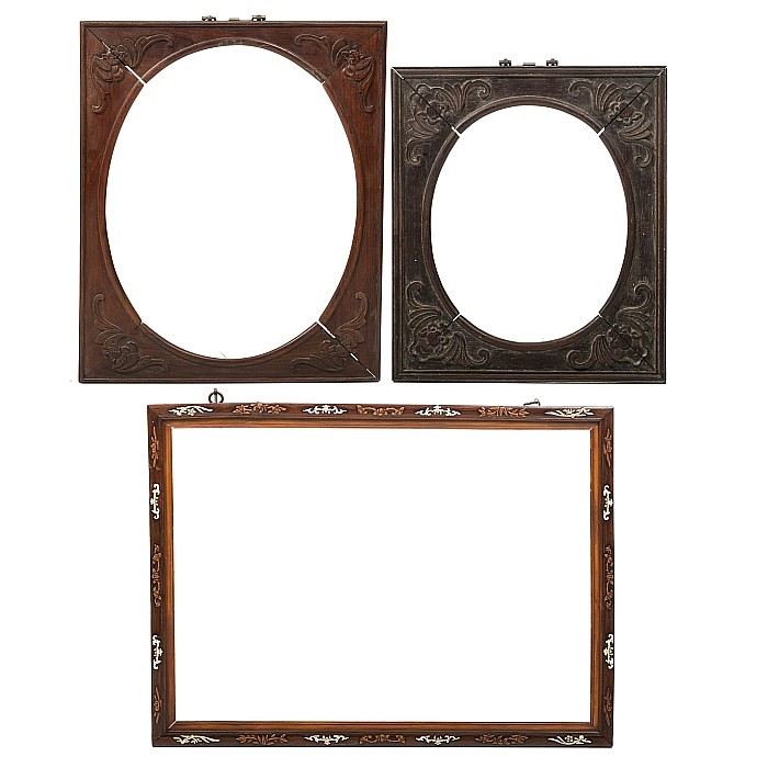 Set of three chineses frames, Minguo