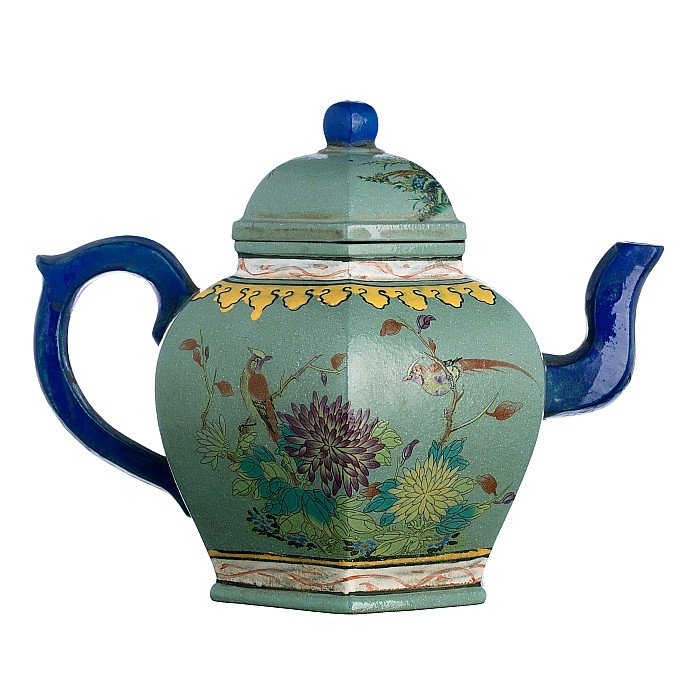 Teapot in Yixing ceramics, Minguo