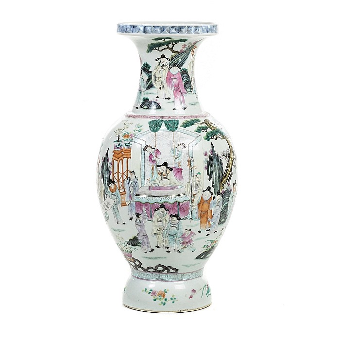 Big vase 'deities' in chinese porcelain, Guangxu